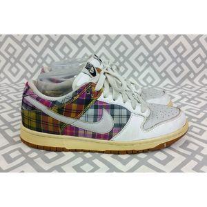 Vintage Nike Dunk Low Plaid Shoes Sneakers Sz 7.5
